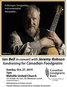 Concert poster with photo of Ian Bell